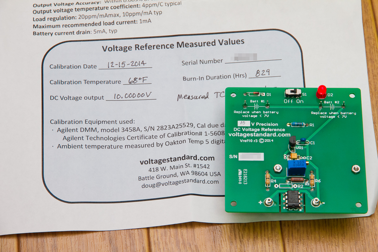10VDC .003% Precision Voltage Reference Standard