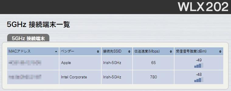 WLX202管理画面