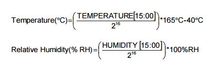 HDC1050換算式